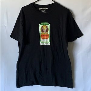 NEW Jagermeister The Stag Women/'s Small Forest Green V-neck T-Shirt 50//50